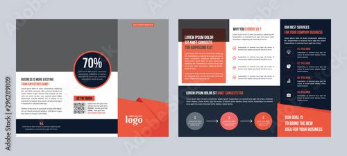 Fototapeta  Corporate Trifold Brochure Design Template