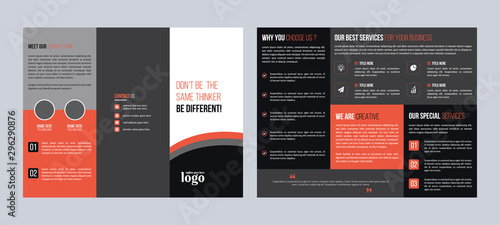 Fotografie, Tablou  Corporate Trifold Brochure Design Template