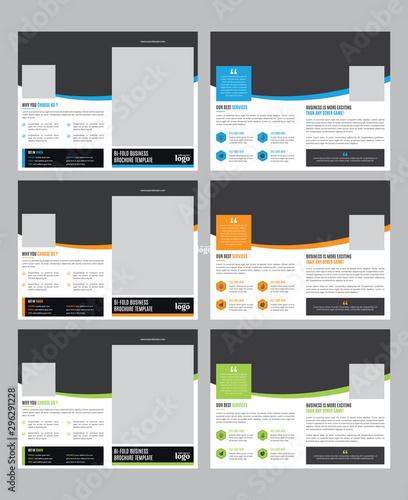 Fotografie, Obraz  Corporate Bifold Brochure Design Template