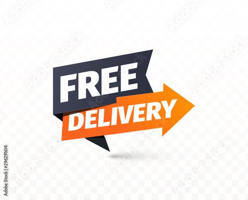 Free delivery vector icon Fotobehang