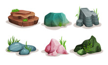 Rock Stones Vector Illustrated...