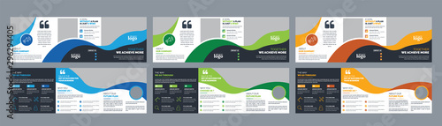 Corporate Square Trifold Brochure Design Template Wallpaper Mural