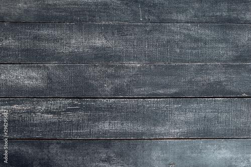 old natural  dark black wooden texture backround Fototapet