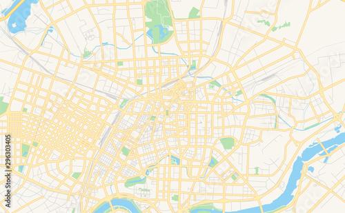Fotografie, Obraz  Printable street map of Shenyang, China