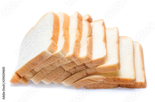 Door stickers Bread sliced bread isolated on white background