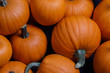 Leinwandbild Motiv Many pumpkins background