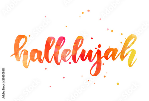 Photo Hallelujah lettering