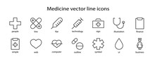Set Of Medicine Vector Line Ic...