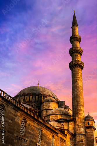 Suleymaniye Mosque after the sunset
