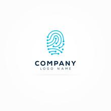 Digital Biometric Fingerprint Logo