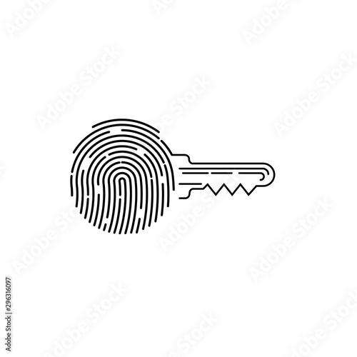 Vászonkép  Fingerprint sign icon