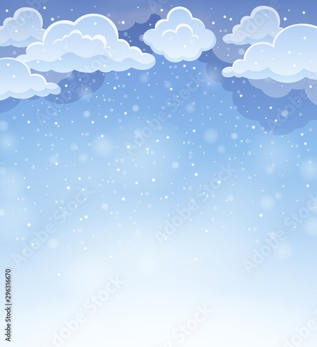 Montage in der Fensternische Für Kinder Winter sky theme background 4