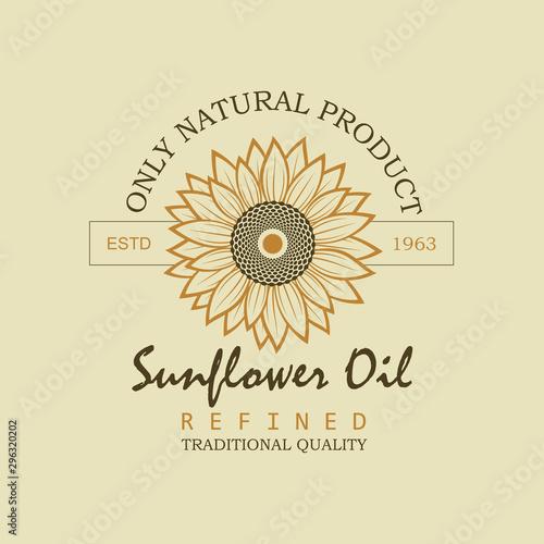 label on bottle for refined sunflower oil