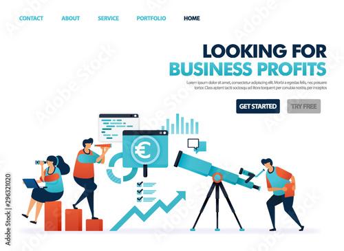 Fotografía  Looking for profit in company business