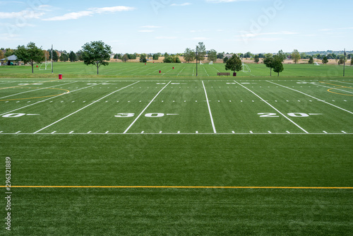 Photo view of high school football and soccer fields