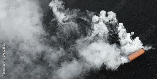 Cuadros en Lienzo Fuming smoke bomb