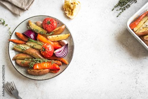 roasted seasonal vegetables Wallpaper Mural
