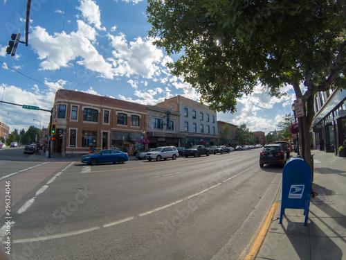 bozeman montana downtown on sunny day
