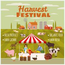 Harvest Festival Farmer Family...