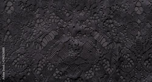 Black lace Fototapet
