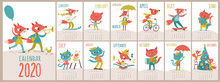 Vector 2020 Calendar Template ...