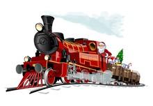 Vector Christmas Card With Car...