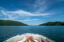 On A Boat On Lake Jocassee Sou...