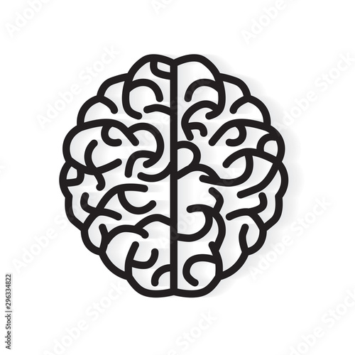 Obraz human brain icon - vector illustration - fototapety do salonu