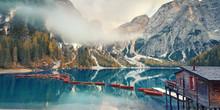 Romantischer Blick - Ruderboot Am See