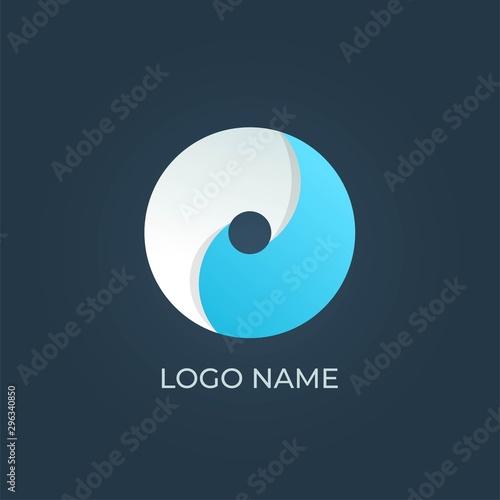 Fototapeta  Letter O logo alphabet. Isolated vector