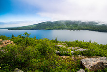 View Of Eagle Lake In Acadia National Park, Maine
