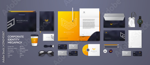Corporate branding identity design Wallpaper Mural