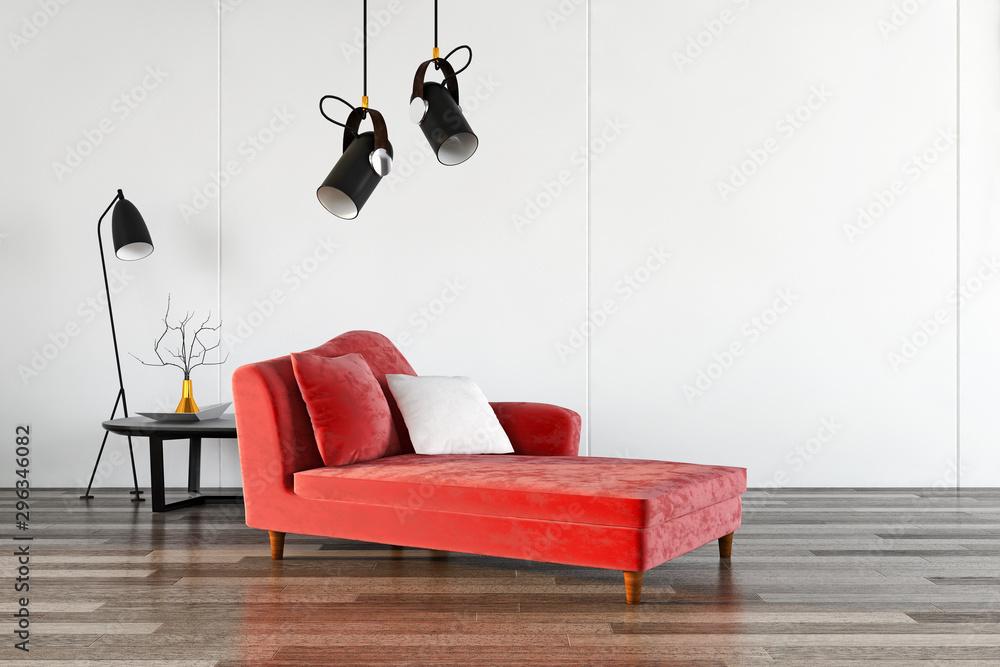 Fototapety, obrazy: large luxury modern bright interiors room illustration 3D rendering
