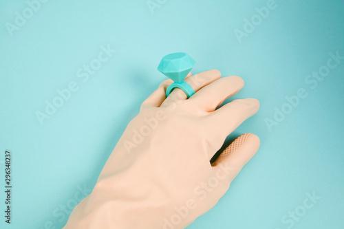 ring and balloon glove Tapéta, Fotótapéta