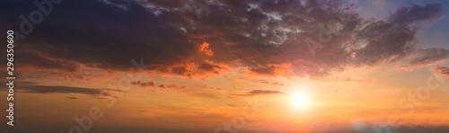 Panorama photo twilight sky background Fototapete