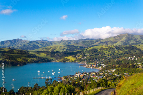 Akaroa bay view, New Zealand