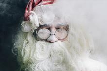 Portrait Of Santa Claus With G...