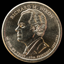 1 Dollar Coin. 37th President Of The United States Of America