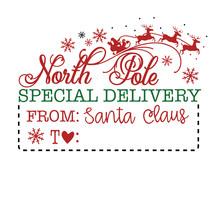Santa Claus Present Tag