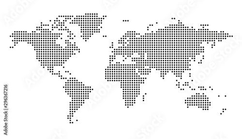 Mapa świata kropkowane wektor