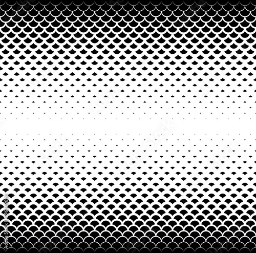 Fototapeten Künstlich Seamless geometric vector background.Black scales on white background.