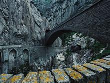 The Modern Concrete Span Of Devils Bridge And Older Bridge Below