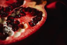 Close Up Of Halved†pomegranate