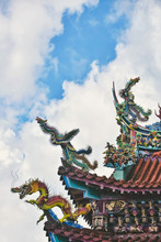 Close Up Of Chinese Temple Roo...