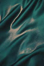 Sand On Emerald Green Silk