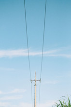 Low Angle View Of Utility Pole Against Sky