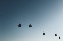 Low Angle View Of Cable Car