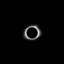 Close Up View Of Solar Eclipse