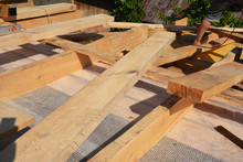 Roofing Construction Wooden Be...