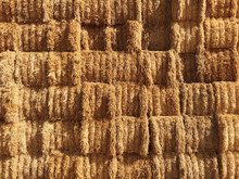 Stacks Of Hay Bales
